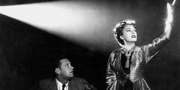 William Holden and Gloria Swanson in Sunset Blvd