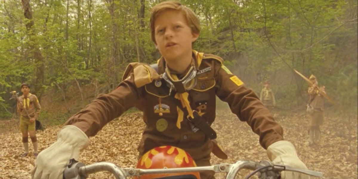 A young Lucas Hedges in Moonrise Kingdom