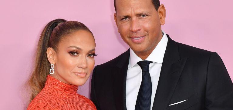 Jennifer Lopez and fiance former baseball pro Alex Rodriguez arrive for the 2019 CFDA fashion awards