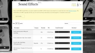 BBC sound effects archive