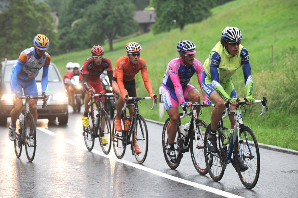 Daniel Oss heads escape group, Tour de Suisse 2010, stage 5