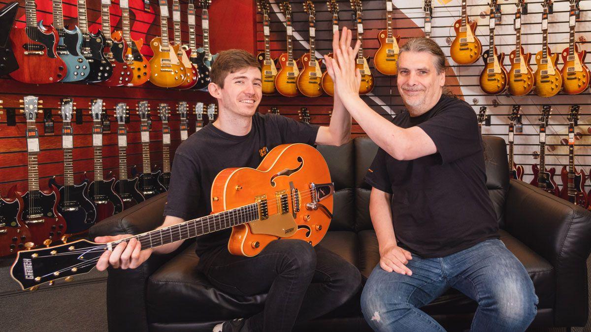 guitarguitar is offering free lessons to left handed players musicradar. Black Bedroom Furniture Sets. Home Design Ideas