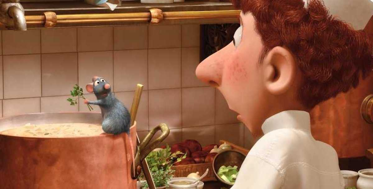 Remy and Linguini in Pixar's Ratatouille