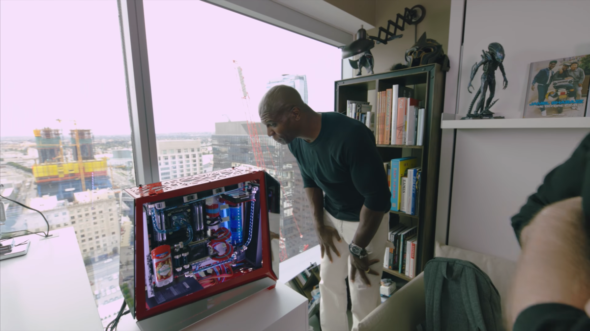 Terry Crews Gets A Custom Pc That Houses An Old Spice Roll