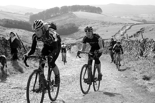 Pen-y-ghent ascent, Three Peaks Cyclo-Cross 2010