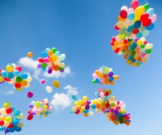 Helium filled balloons