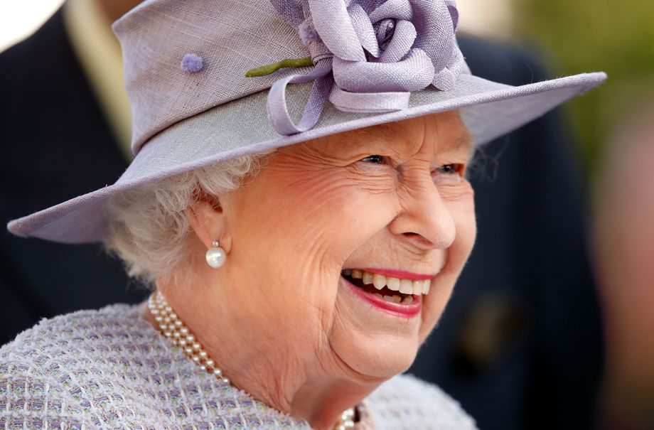 queen giggles video call raf officer lockdown fitness routine