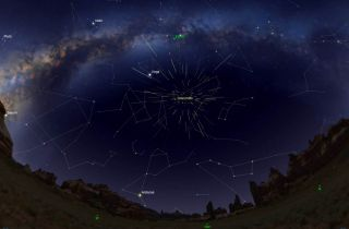 Sky Map for Draconid Meteor Shower