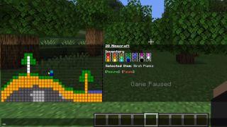 2D Minecraft in Minecraft chat window