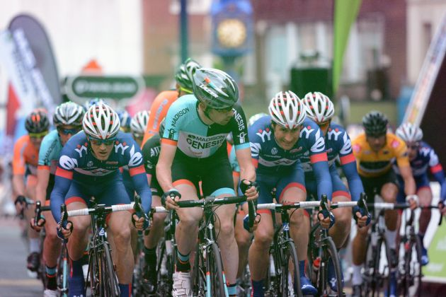 Andy Tennant on the front, Tour Series 2013, Stoke-on-Trent