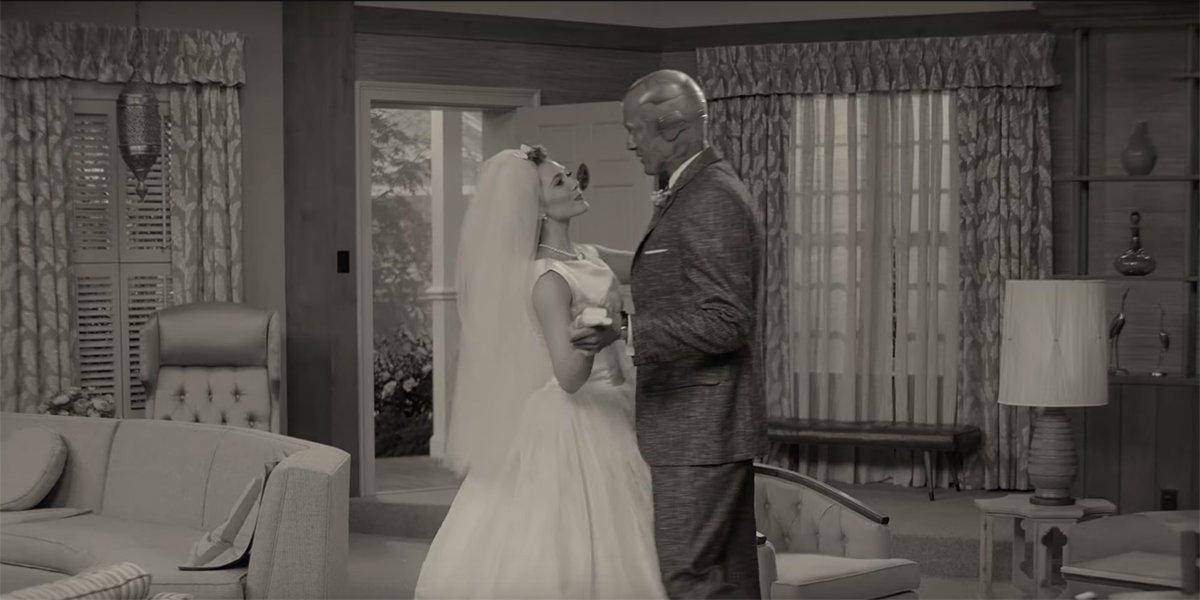 wandavision black and white wedding