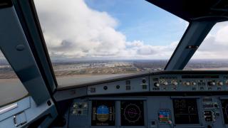 Airbus A320 Cockpit in Microsoft Flight Simulator