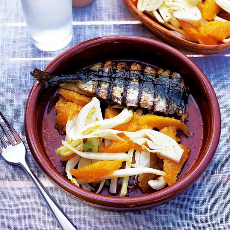 Barbecued Mackerel with Fennel and Orange Salad recipe-recipe ideas-new recipes-woman and home