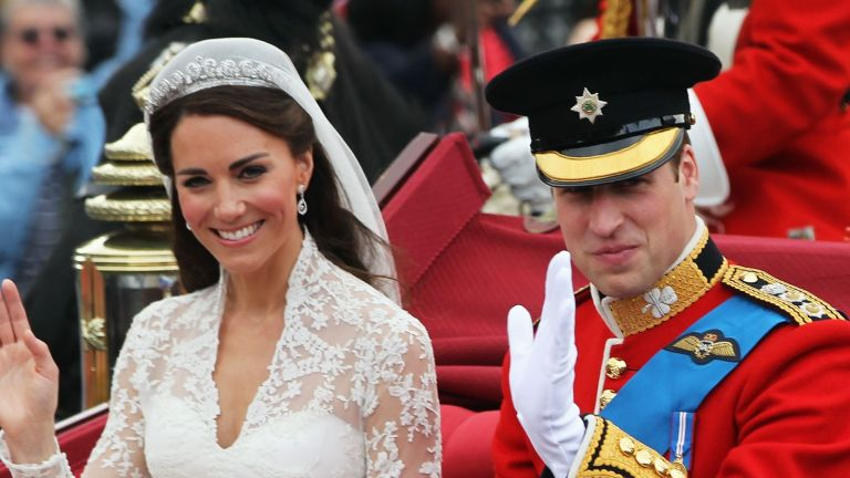 Duchess and Duke of Cambridge on their wedding day in 2011