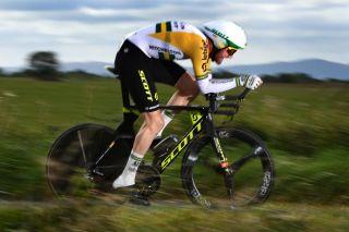 Australian time trial champion Luke Durbridge (Mitchelton-Scott) on stage 6 of the 2019 Tour of Britain