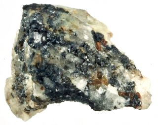 A rock sample from the mineral collection of the Museo di Storia Naturale in Florence previously unearthed in the Koryak Mountains in Russia.