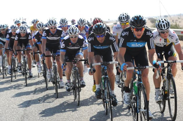 Roger Hammond and Jeremy Hunt, Tour of Qatar 2011, stage one