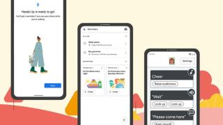 Android phones running Heads Up, Reminders, and new accessibility features