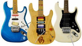 Three of Jason Becker's most prized guitars