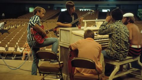 A photograph of The Beach Boys back in the day