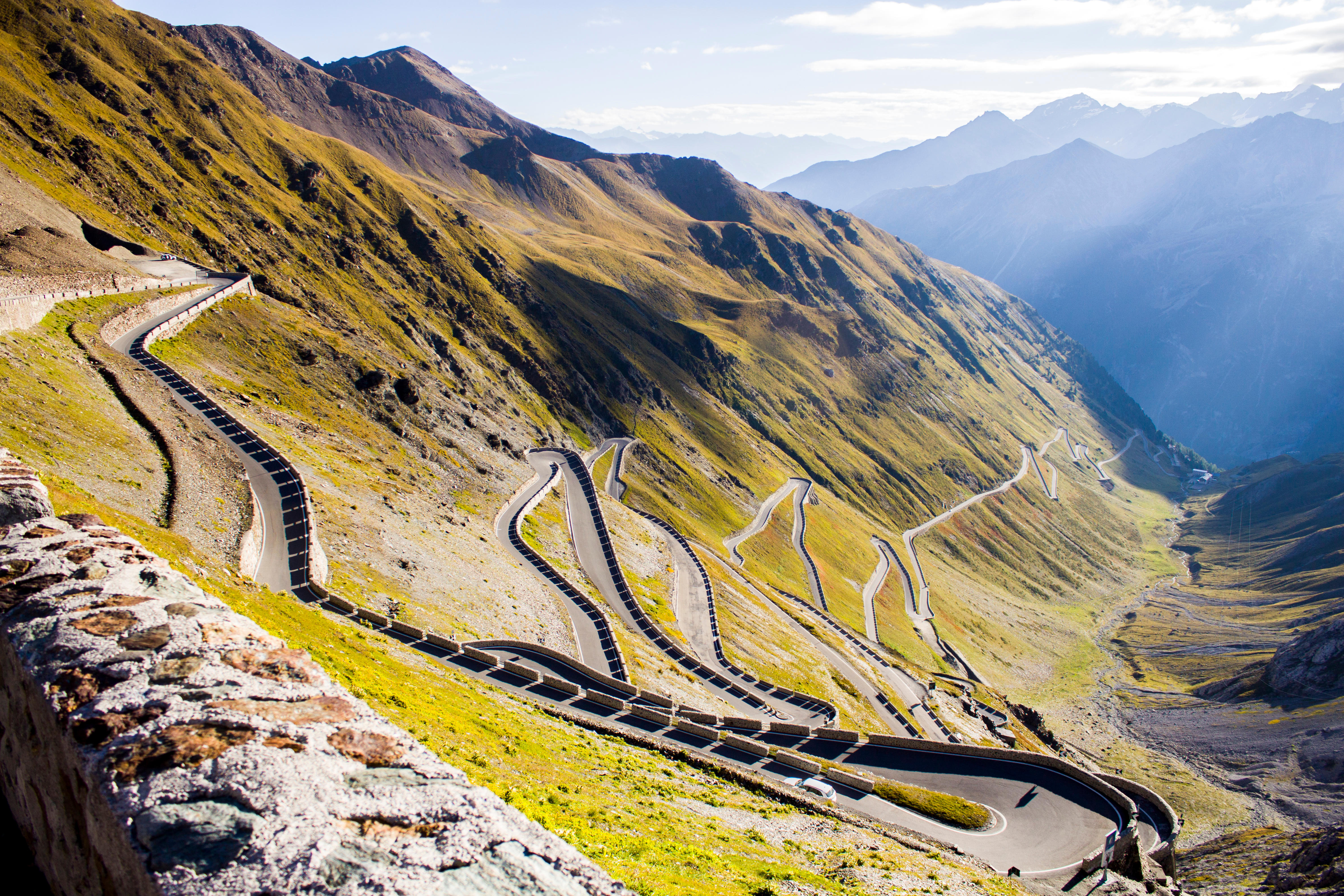 The top of Stelvio Pass in Italy: not a bad spot for a cycling holiday (Alamy)