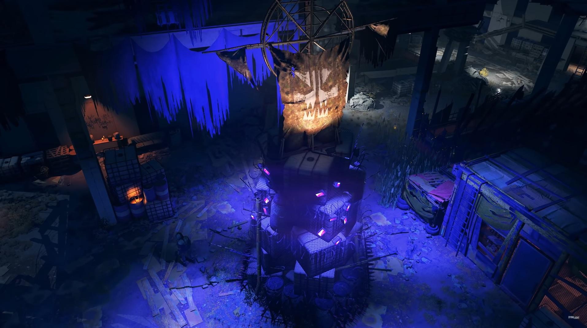 Dying Light 2 - A UV beacon outside a faction city
