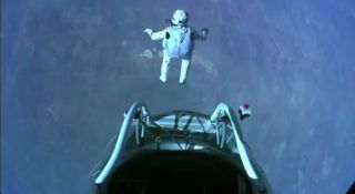 Felix Baumgartner makes the highest skydive ever Oct. 14, 2012.