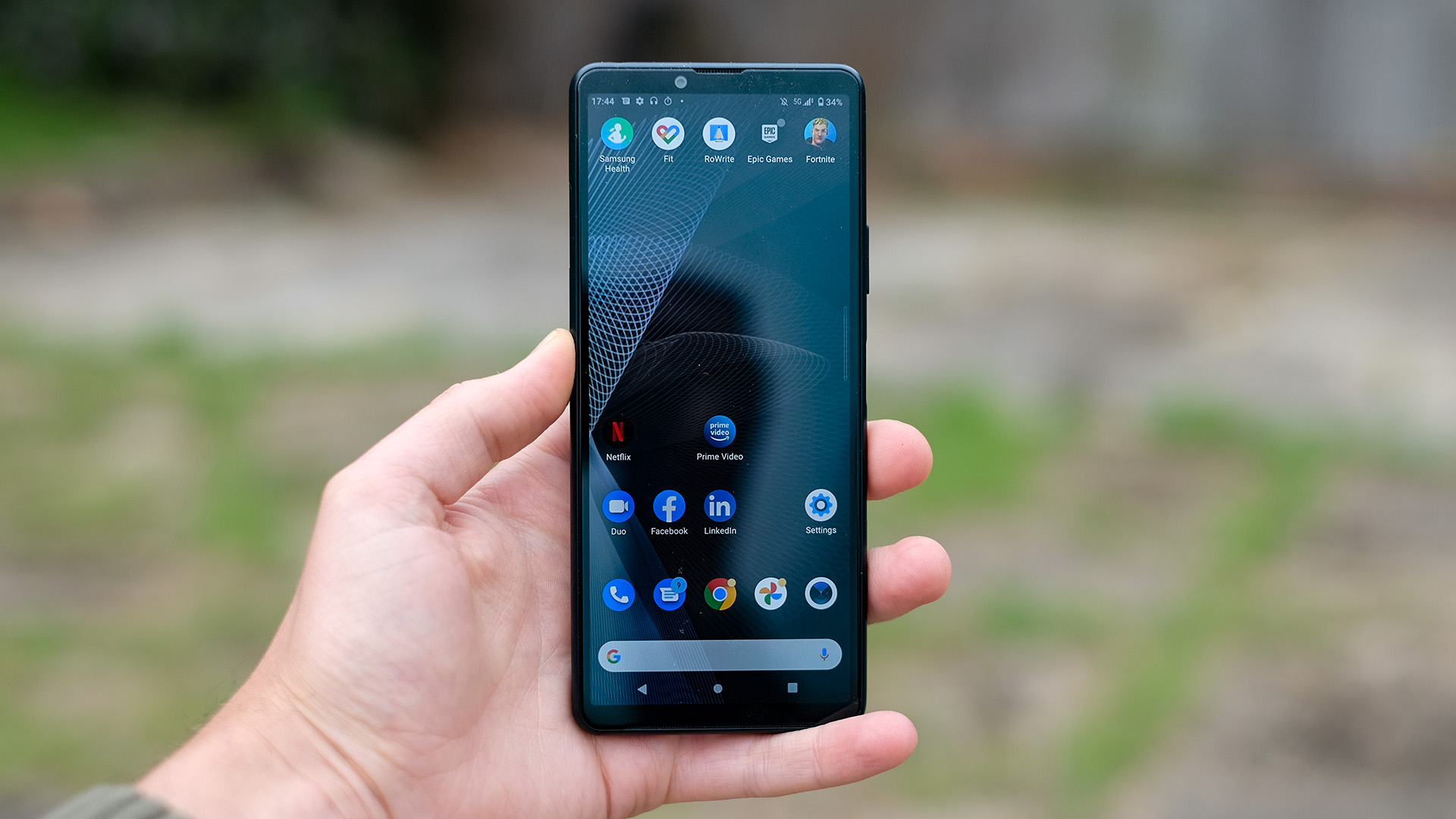 The Sony Xperia 10 III in someone's hand