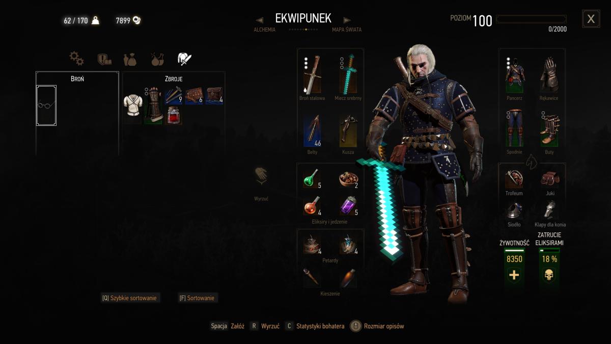 Geralt looks much cooler when he's wielding a Minecraft sword   PC ...