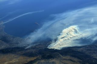 SoCal Wildfires from Space