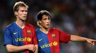 Alexander Hleb and Bojan Krkic