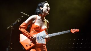 St. Vincent performs during the 2018 Austin City Limits Music Festival at Zilker Park on October 6, 2018 in Austin, Texas.