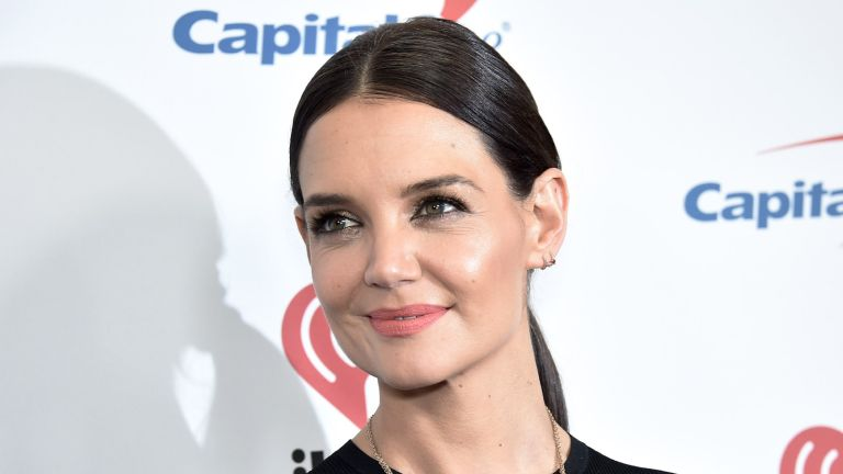 US actress Katie Holmes arrives for the Z100's iHeartRadio Jingle Ball 2019 at Madison Square Garden in New York on December 13, 2019.
