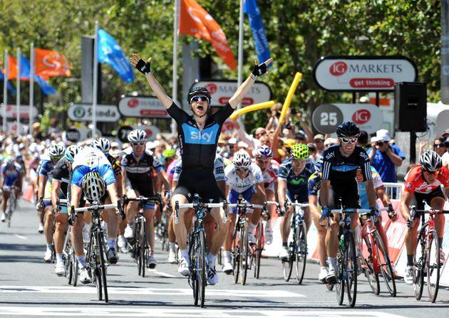 Ben Swift wins stage, Tour Down Under 2011, stage six