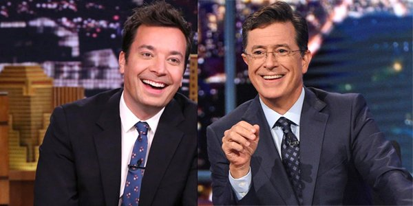 The Tonight Show host Jimmy Fallon The Late Show Stephen Colbert NBC CBS