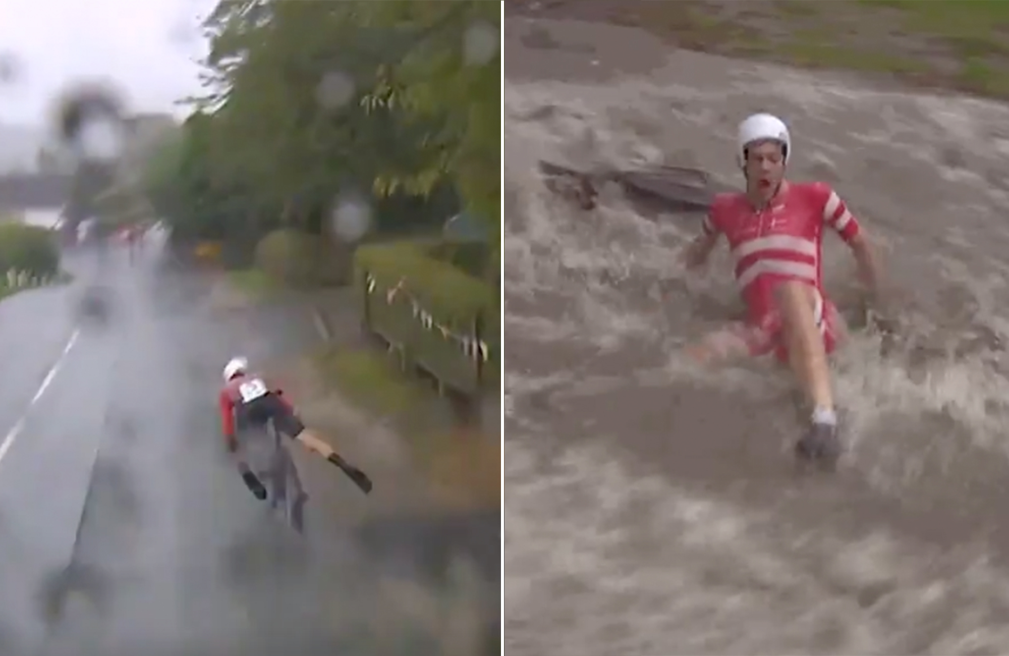 Watch: Chaos reigns supreme at Yorkshire Worlds U23 time trial
