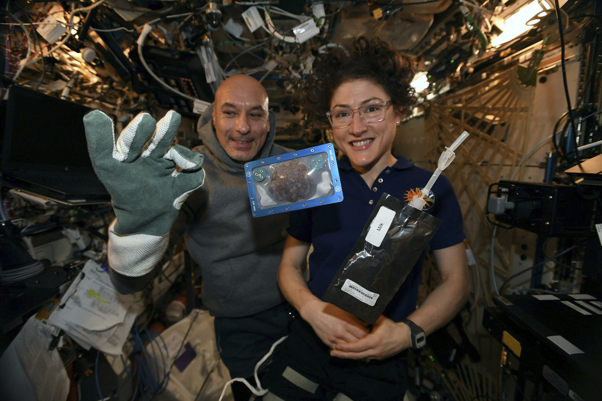 The first cookies baked in space are back on Earth!
