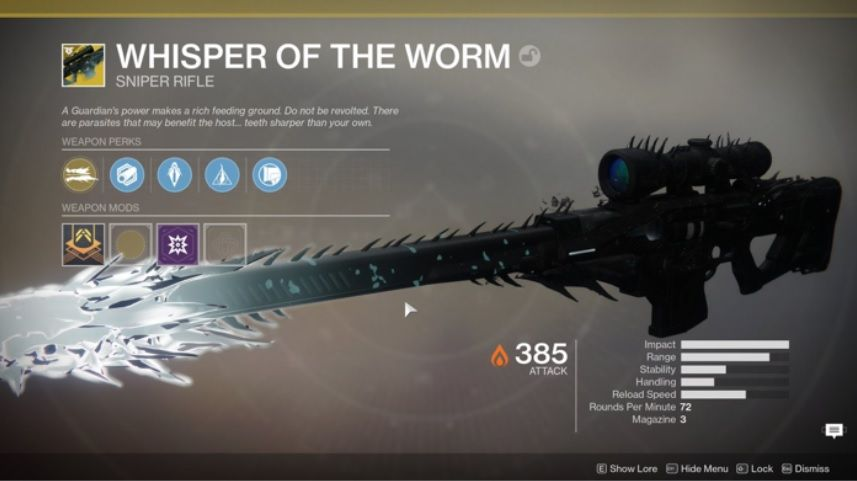 Destiny 2 players find secret mission to unlock new Whisper of the Worm Exotic sniper