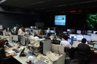 JAXA Flight Control Team (JFCT) resuming the Kibo operations at the Mission Control Room (MCR) at the Tsukuba Space Center in Japan 11 days after it was damaged in the 9.0-magnitude earthquake of March 11, 2011.