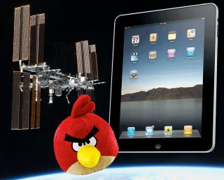 "The first Apple iPads in space and an ""Angry Birds"" plush doll will soon be launched to the International Space Station (ISS) on two Russian rockets."