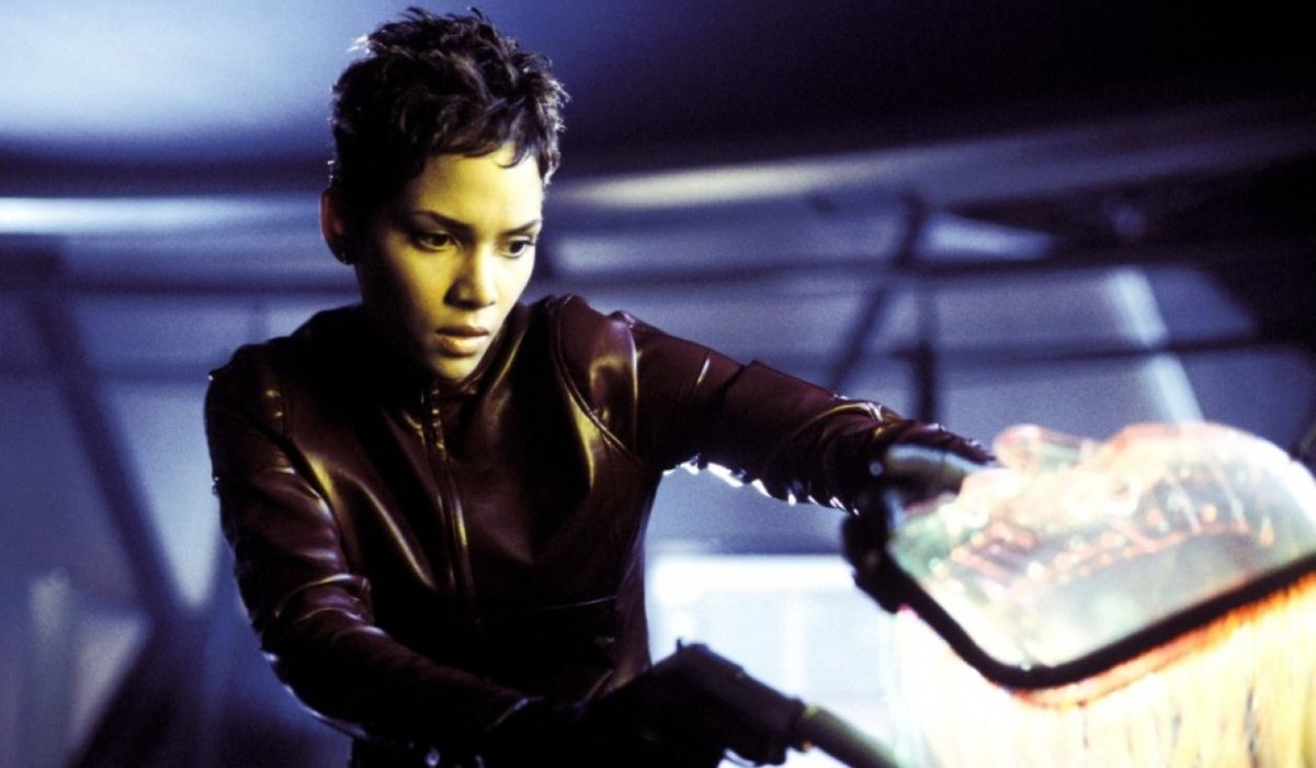 Halle Berry unmasks a villain in Die Another Day.