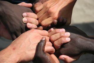 Black and white skin