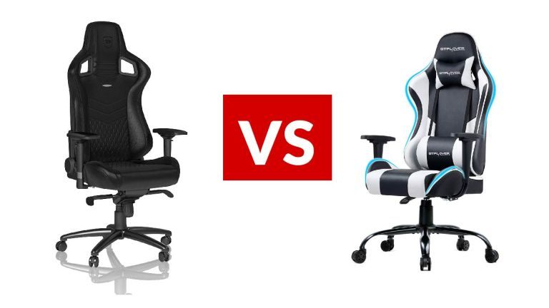 Epic Series Real Leather Chair from Noblechairs vs GTPlayer Gaming Chair