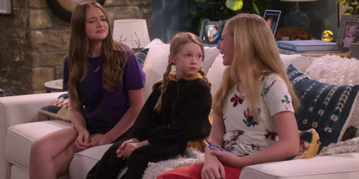 Reylynn Caster, Juliet Donenfeld, and Lily Brooks O'Briant in The Big Show Show