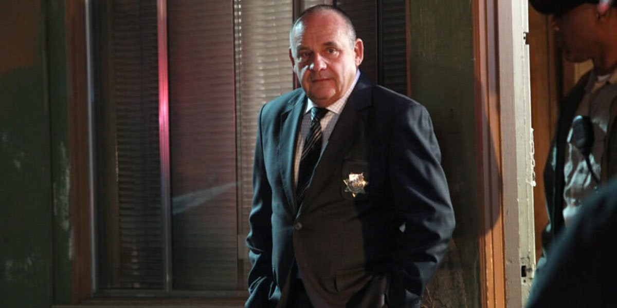 Jim Brass one of his final CSI episodes 2014, photo courtesy of CBS