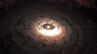 Dust Trap Around a Star