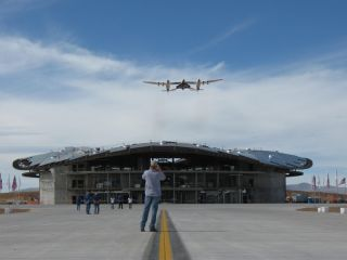 Virgin Galactic Spaceship Christens New Spaceport Runway