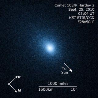Hubble Space Telescope observations of Comet Hartley 2.