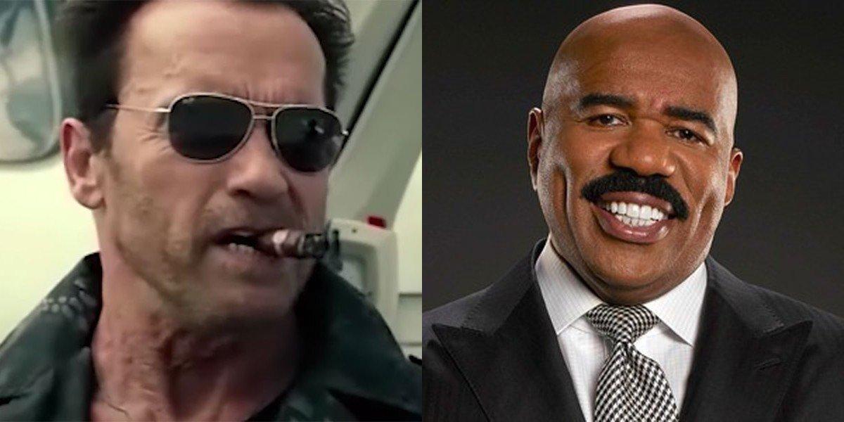 Arnold Schwarzenegger and Steve Harvey