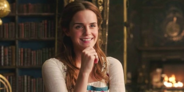 Emma Watson smiling as Belle